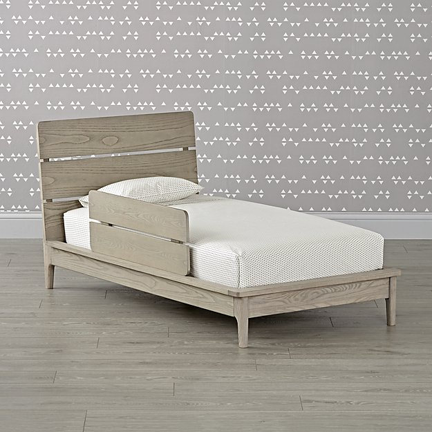Wrightwood Grey Stain Toddler Bed Amp Guardrail Set