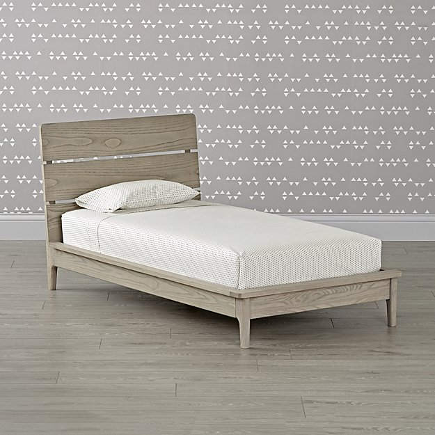 Wrightwood Grey Stain Toddler Bed