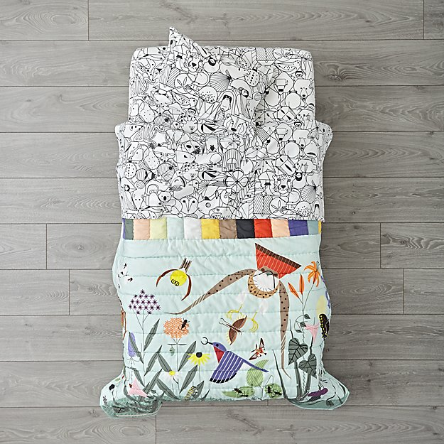 Charley Harper Nature Center Toddler Bedding
