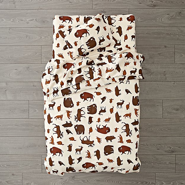 Organic Animal Flannel Toddler Bedding
