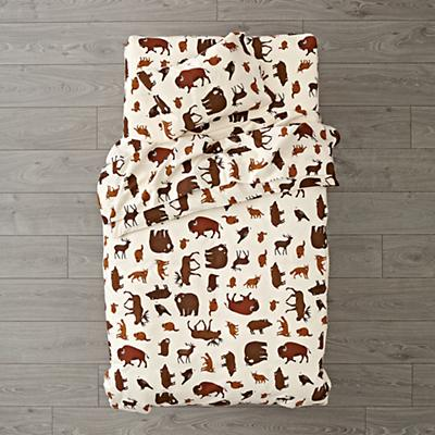 Toddler_Bedding_Flannel_Animal_Brown