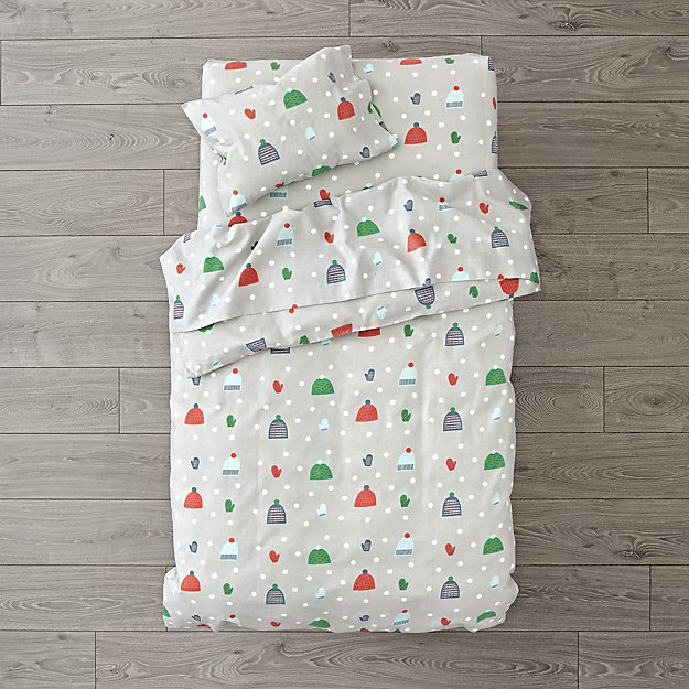 Snow Day Flannel Toddler Bedding