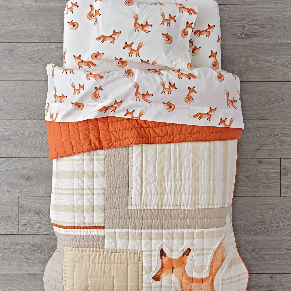 Fox Toddler Bedding
