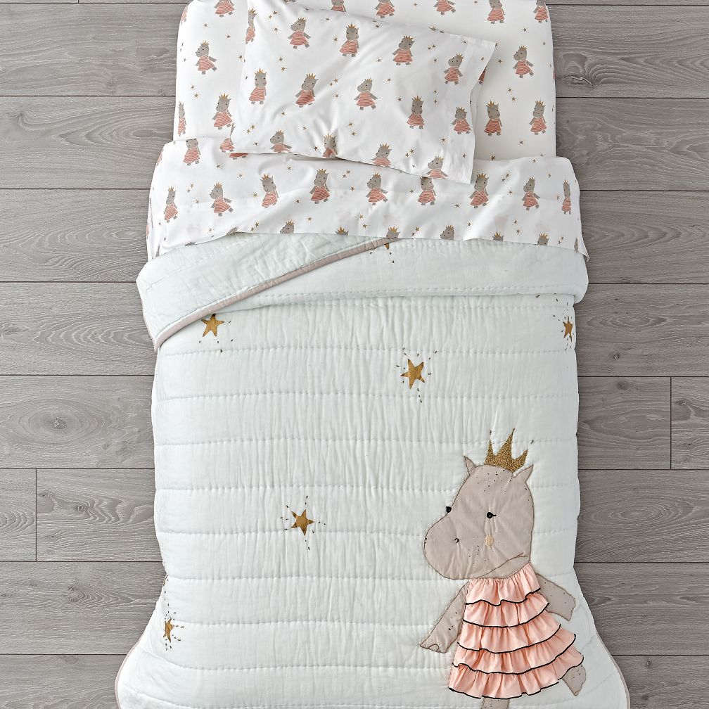 Royal Hippo Toddler Bedding
