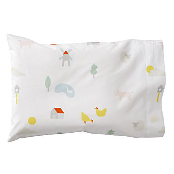 Organic Farm Animal Toddler Pillowcase