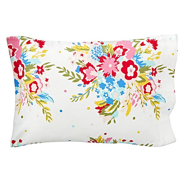 Floral Flannel Toddler Pillowcase