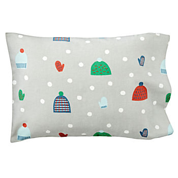 Snow Day Flannel Toddler Pillowcase