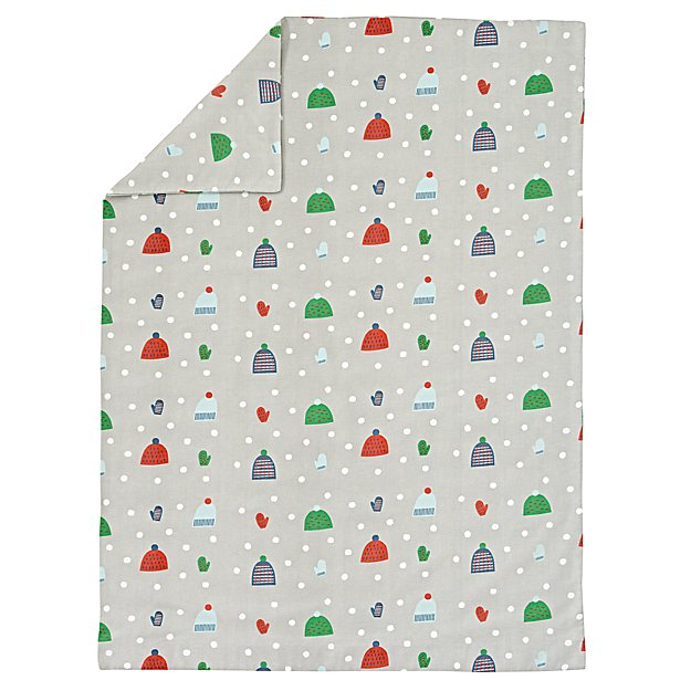 Snow Day Flannel Toddler Duvet Cover
