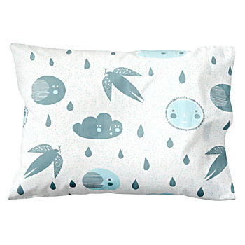Organic Night and Day Blue Moon Toddler Pillowcase