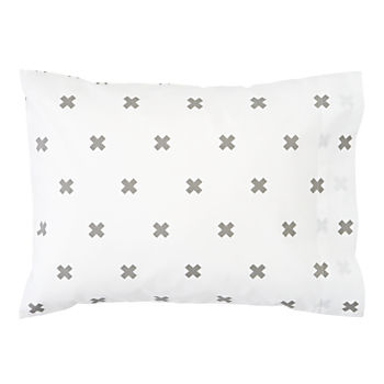 Organic Iconic Grey X Toddler Pillowcase