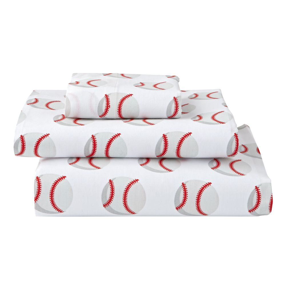 Organic Nod Baseball Toddler Sheet Set