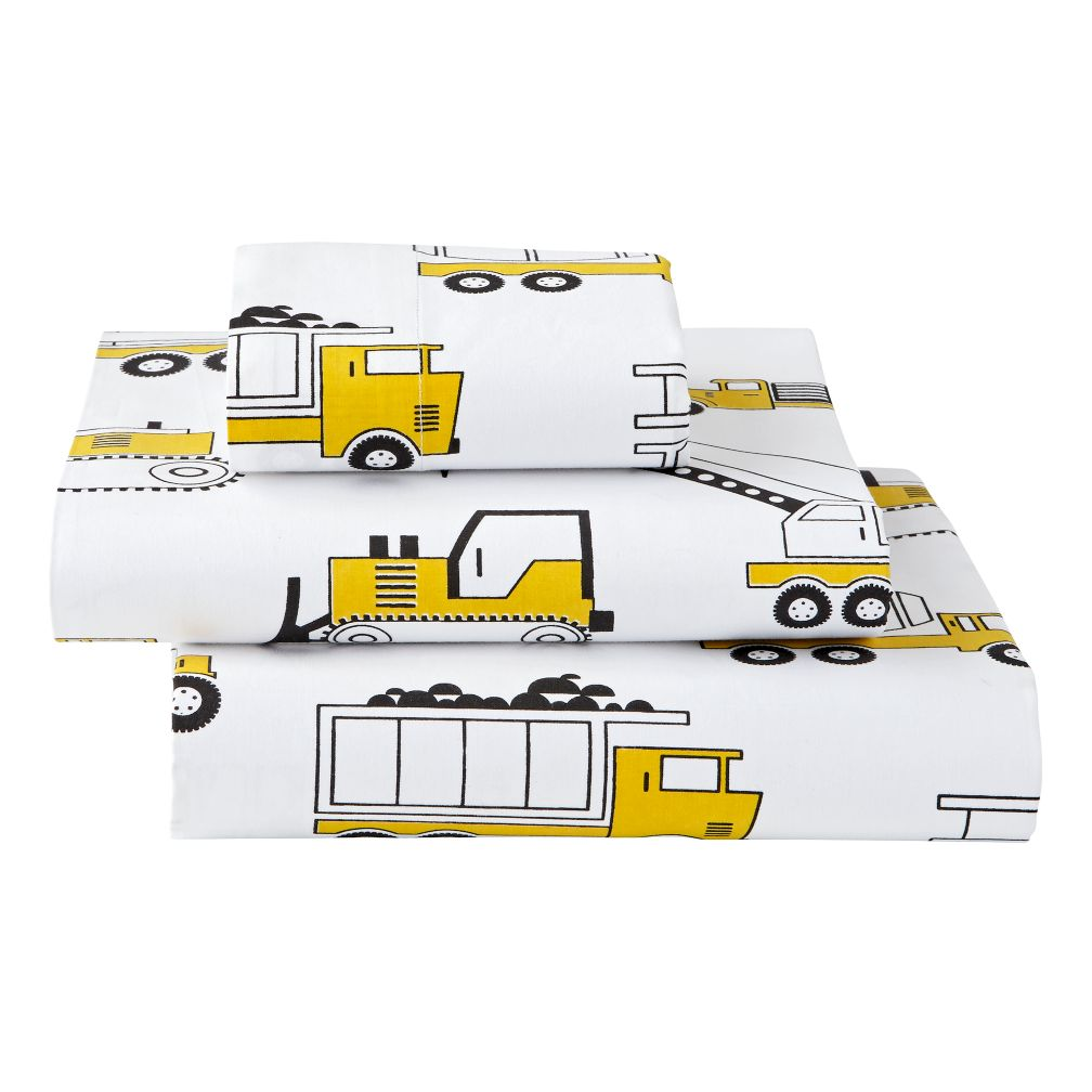 Organic Builder's Toddler Sheet Set
