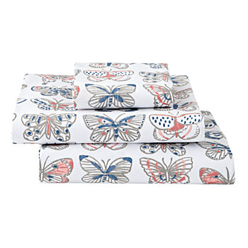 Organic Butterfly Toddler Sheet Set