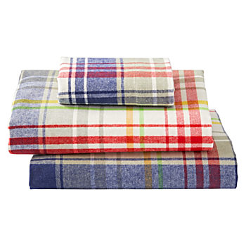 Plaid Flannel Toddler Sheet Set