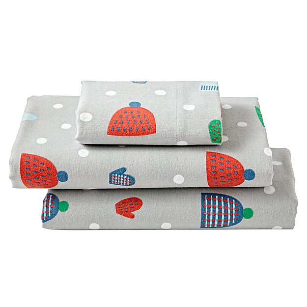 Snow Day Flannel Toddler Sheet Set