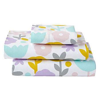 Organic Floral Suite Toddler Sheet Set