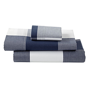 Genevieve Gorder Organic Plaid Toddler Sheet Set