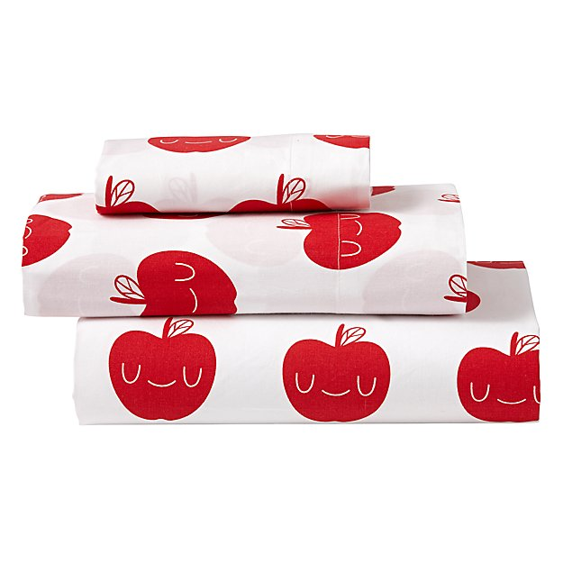 Organic Apple Orchard Toddler Sheet Set