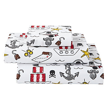 Organic Pirate Toddler Sheet Set