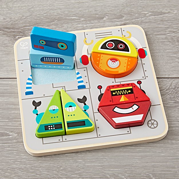Hape Robot Stand-Up Puzzle