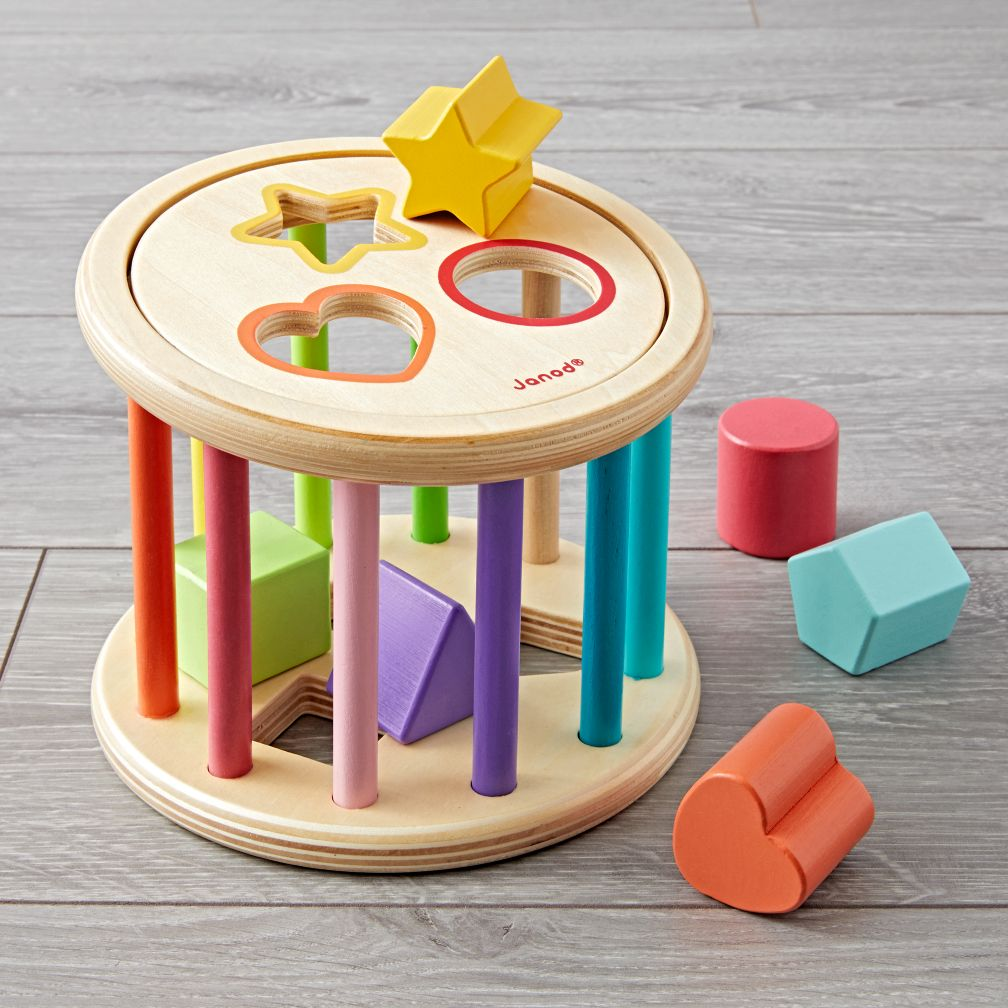 Gifts for toddlers the land of nod janod shape sorter drum negle Choice Image