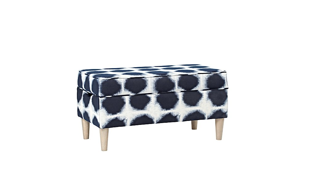 Upholstered Storage Bench (Indo Indigo)