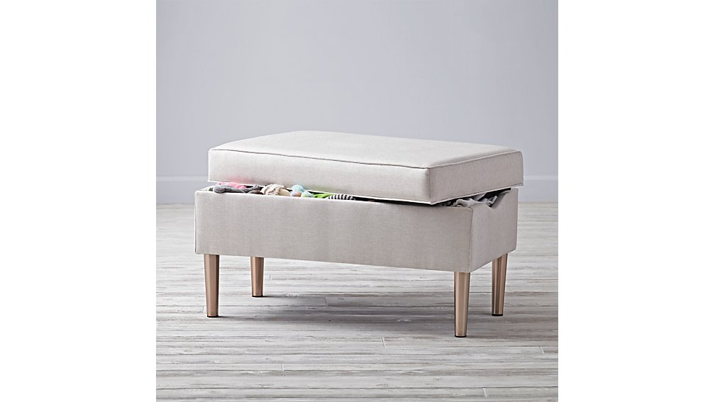 Upholstered Storage Bench (Vision Ivory)