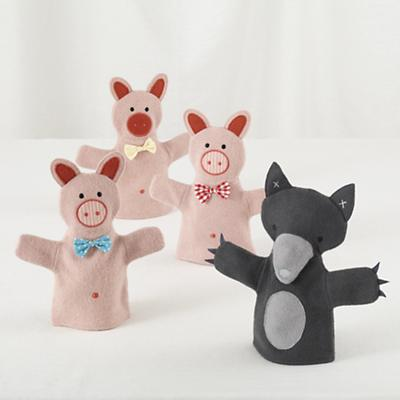 Once Upon a Hand Puppet Set (3 Little Pigs & Wolf)
