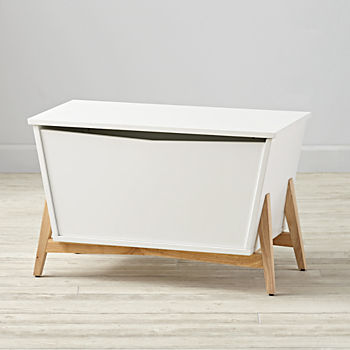 Parkside White & Natural Toy Box