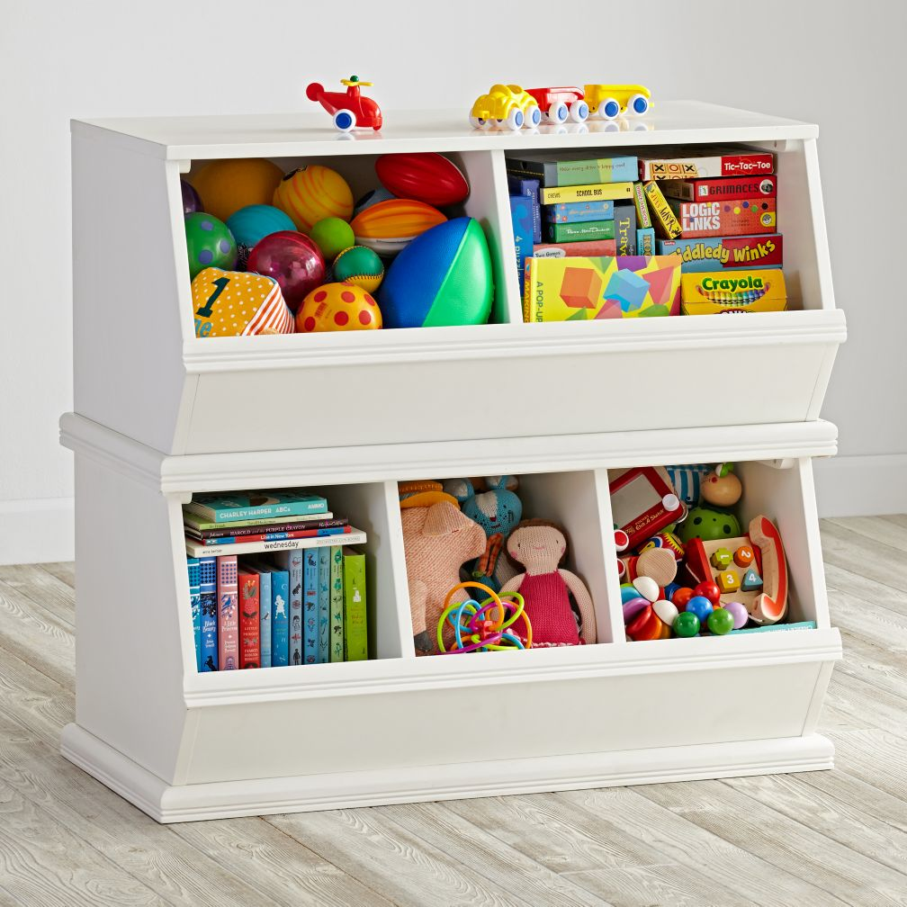 storagepalooza kids stacking toy storage the land of nod - Kids Room Storage Bins