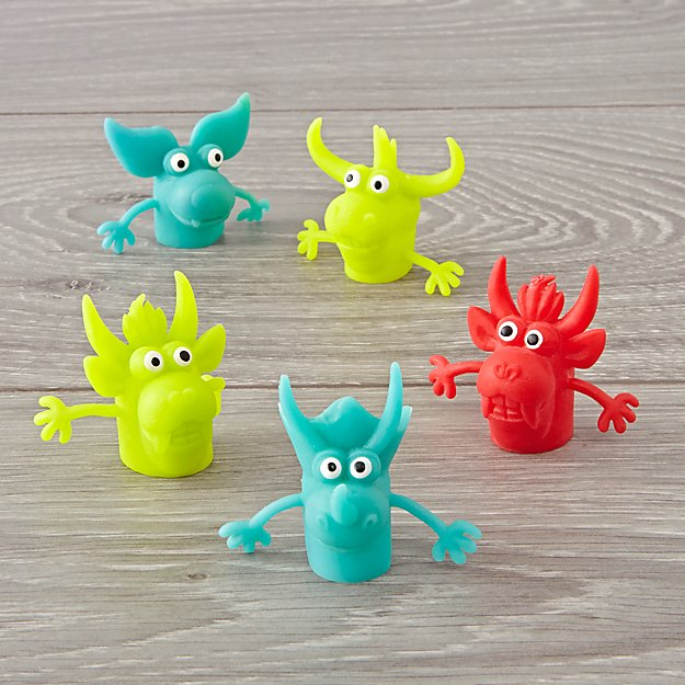 Finger Puppet Monsters (Set of 5)