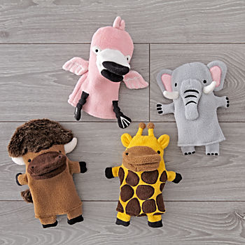 Wild Animal Puppets (Set of 4)