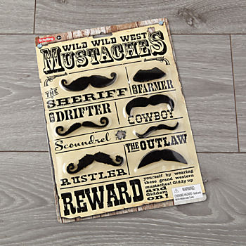 Wild West Mustaches (Set of 7)