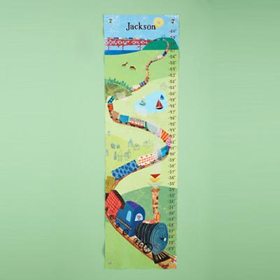 Personalized All Aboard Growth Chart
