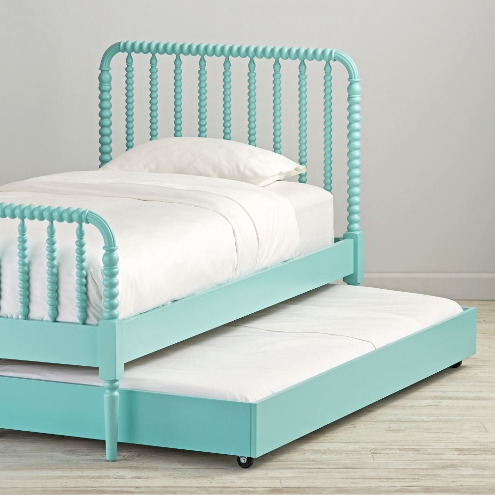 Teal Jenny Lind Trundle Bed The Land Of Nod