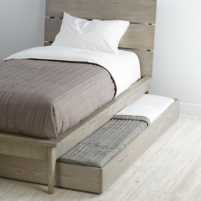 Wrightwood Grey Stain Trundle Bed