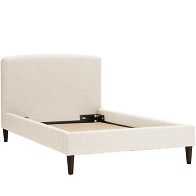 Twin Upholstered Bed (Zuma Vanilla)