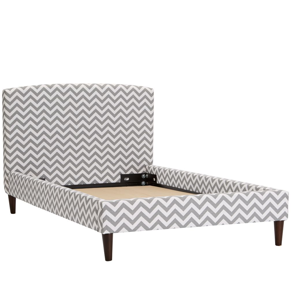 Twin Upholstered Bed (Zig Zag Ash)