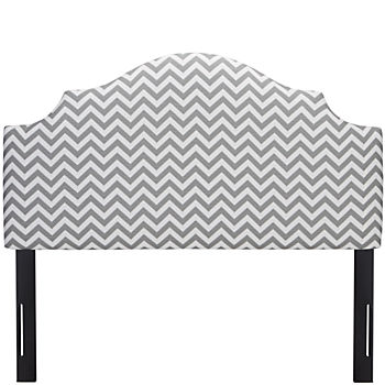 Full Arched Upholstered Headboard (Zig Zag Ash)