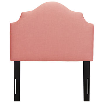 Twin Arched Upholstered Headboard (Petal Linen)