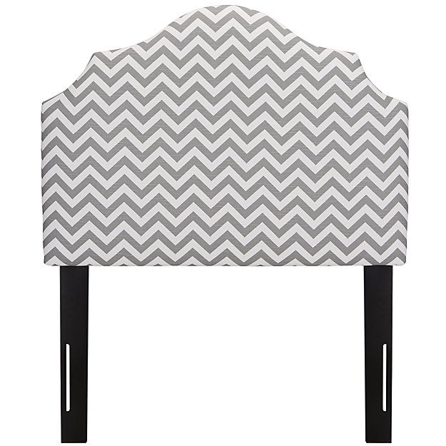 Twin Arched Upholstered Headboard (Zig Zag Ash)