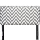 Zig Zag Ash Full Upholstered Headboard