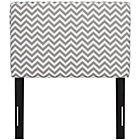 Zig Zag Ash Twin Upholstered Headboard