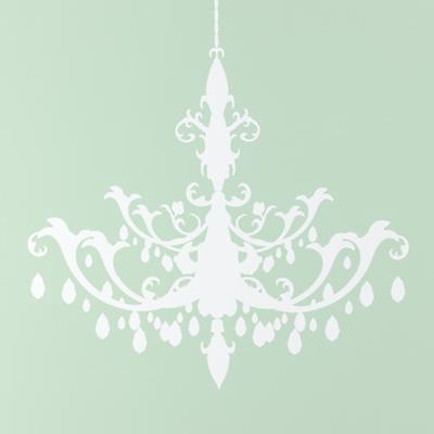 White Chandelier Stick On