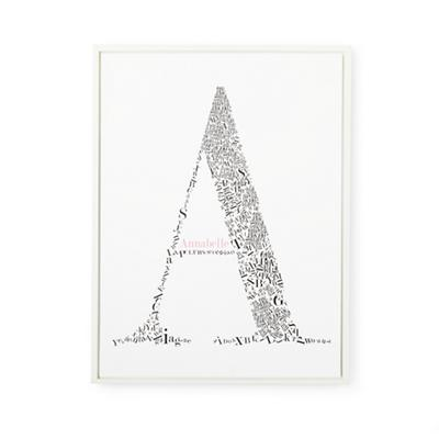 Alphabet Soup Personalized Wall Art