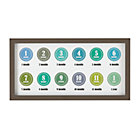Grey Happy First Year Photo FrameIncludes 12 Blue and Green Stickers