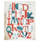 Just My Type ABC Canvas Wall Art