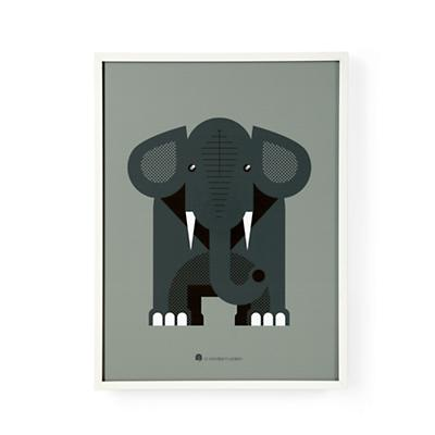 Modern Menagerie Wall Art (Elephant)