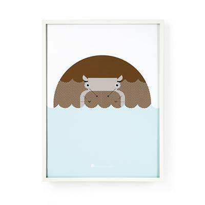 Menagerie Hippo Wall Art