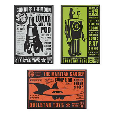 They're Heeere Outer Space Framed Wall Art Set